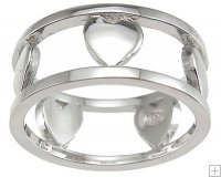 Solid .925 Designer Quality Sterling Silver Heart Ring