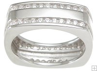 Modern CZ Cubic Zirconia Wedding Band Ring SIZE 11